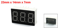 Common Anode Three Digit 7 Seg 11 Pin Red LED Display 23mmx14mm