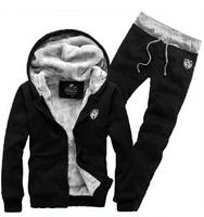 New 2014 autumn\ winter Free shipping comfort single Men's suit Fleece sweater pants hoodies sport set. free shipping