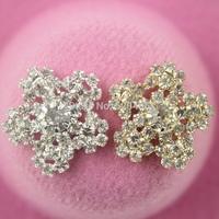 Star 30pcs/lot Clear Crystal Rhinestone,Acrylic Rhinestone Buttons for Embellishment,Hair/Garment Accessories