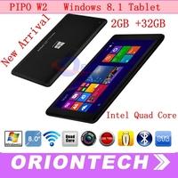 2GB 32GB ! 8 inch Windows 8.1 Tablet PC PIPO W2  Intel Atom Z3735D Quad Core 64 Bit Dual Camera  IPS Multi Touch Screen Winpad