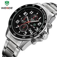 Free shipping New arrival WEIDE brand quartz watches men military 3ATM calendar date men wristwatches sport dive clock dropship
