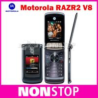 2pcs/lot Unlocked Origina V8 Motorola Mobile Phone 2.2 inch Screen Camera 2.0MP Bluetooth ROM 2GB V8 Mobile Phone