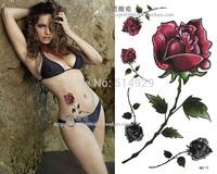 Over 18 shipping waterproof tattoo sticker tattoo sticker tattoo rose totem scar paste stickers HM215 wholesale