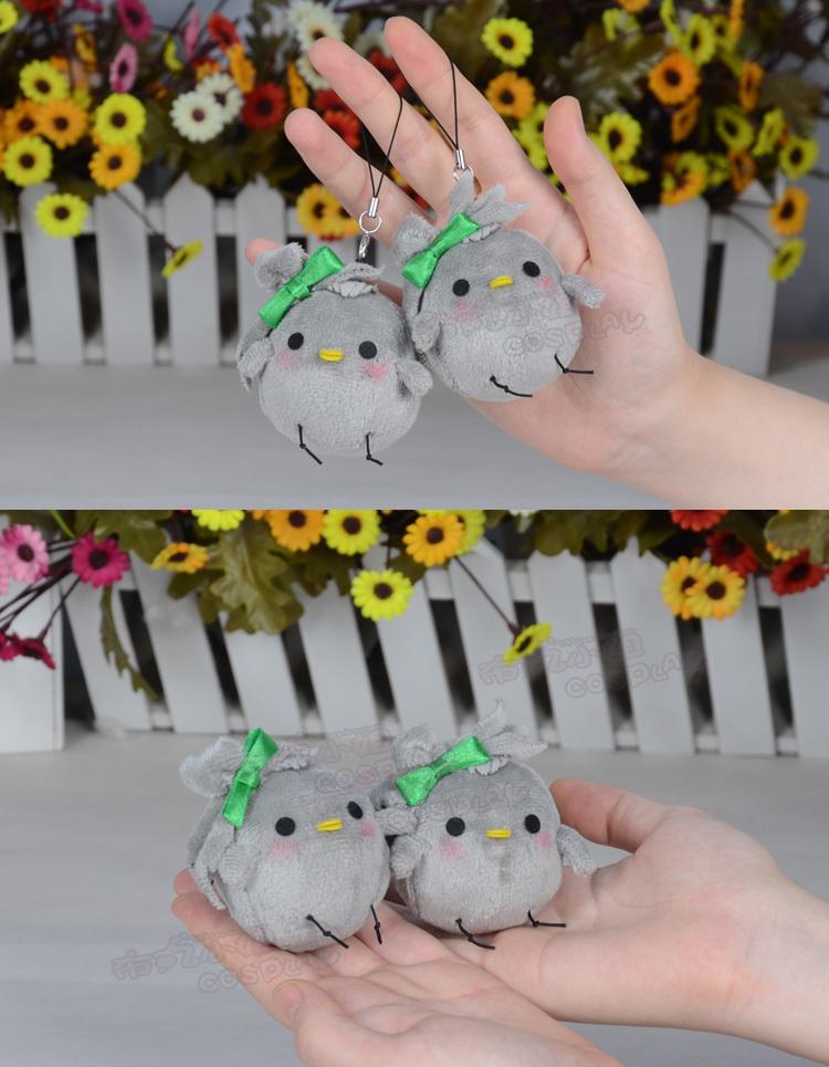 Japan Anime Love Live Kotori Minami bird plush key chain bag hanging doll cute(China (Mainland))
