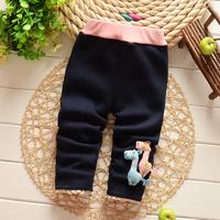 Free shipping Autumn and Winter Cartoon Baby girls cotton plus velvet thick leggings pant,children leggings,girls trousers#Z748