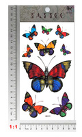 freeshipping waterproof tattoo sticker sexy and colorful butterfly tattoo temporary tattoo stickers