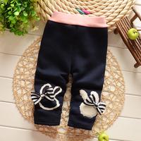 Free shipping Autumn and Winter Baby girls cotton plus velvet thick leggings pant,kid leggings,girls trousers#Z746