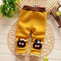 Free shipping Autumn and Winter Baby girls cotton plus velvet thick leggings pant,girls trousers,children leggings#Z750