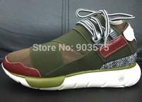 New 2014 Y3 sneaker QASA High men women genuine leather sneakers shoes EU 35-44