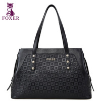 FOXER new 2014 women handbag genuine leather bags women famous brands wristlets fashion shoulder bag vintage totes high quality