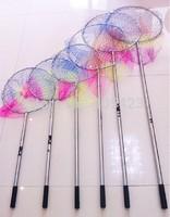 1pcs 1.9m to 4.5m stainless steel portable Retractable foldable Brailer Folding Fishing Landing Nets fishing hand net Brail