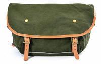 Unique Design Men Casual Canvas Genuine Leather Messenger Shoulder Bags School Travel Hiking Cycling  Sport Bag High Quality