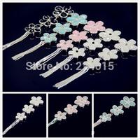 Dynamic Tassel Cherry Blossom Flower Alloy Rhinestone Jewelry DIY Accesorios, Phone Findings Handmade,5PCS