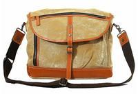 2014 New Men And Women Canvas Leather Vintage Messenger Shoulder Casual School  Bags Fashion Unique Design