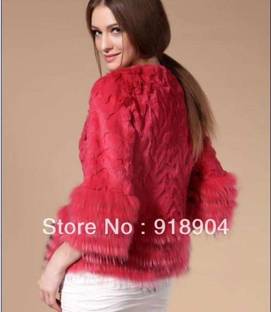 EMS frete grátis New Genuine casaco de pele de coelho pele de guaxinim ele mulheres jaqueta de inverno de pele de guaxinim colete de pele por grosso ea retalho(China (Mainland))