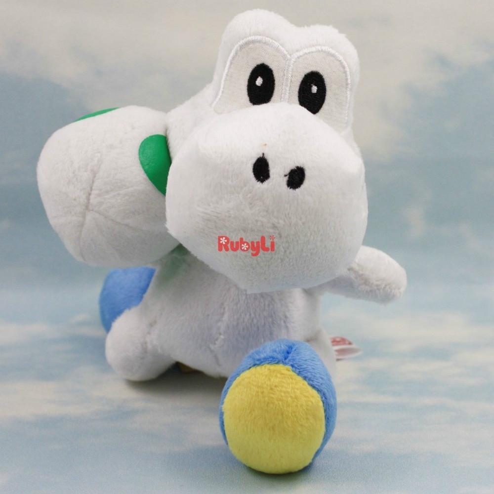 white yoshi&egg 8'' SUPER MARIO BROS ANIME PLUSH DOLL TOY BABY CUTE SOFT ANIMAL FLOWER CARTOON GIFT Stuffed Free Shipping(China (Mainland))