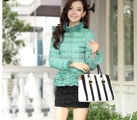 New 2014 cotton-padded jacket Short design wadded coat Ruffles thicken coat Winter outwear women  FACTORY SALE D38