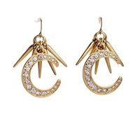 2014 Stylish Moon Drop Earring Charm Earring Fashion Earring Free Shipping (Min $20 can mix)