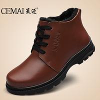 2014 winter men's cowhide retro Martin boots  size 37 ~ 48