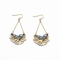 2014 Cutout Flower Drop Earring Charm Earring Fashion Earring Free Shipping (Min $20 can mix)