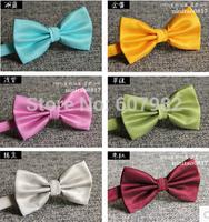 New Arrival Korean Formal Bow Tie Adjustable Solid Candy Colors Self Tie Bow Ties Size 11.5cm*6.5cm Cravat Wedding Bowties Men