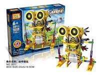 The children's educational blocks toys LOZ plastic electric block mechanical robot building blocks sets