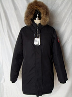2014 Brand New Womens Thick Goose Down Victoria Parka Winter Warm Jacket keep -40 degree with Removeable Raccoon fur