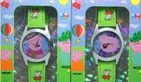 Peppa pig pink pig cartoon young girl children watches quartz watch
