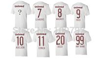 free shipping 14/15  Thailand quality Fluminense jersey , Custom Fluminense shirt LEANDRO FRED CONCA DECO soccer jersey
