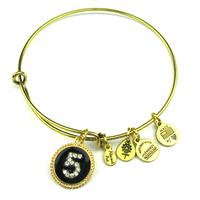 "New Fashion Alex and Ani Ajustable Wire Bracelets Rhinestone Charm and digit ""5"" bangles Free Shipping"