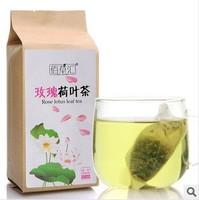 2014 Goji Berries Hot! Top Grade Rose Lotus Leaf Flower Tea Women Health Beauty Teabag 50 Pieces 150g free Shipping Wholesales