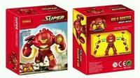 wholesale Decool 0181 7CM Super Heroes Avengers Action Figures Big IRON MAN HULK BUSTER Building Blocks Minifigures Bricks Toys