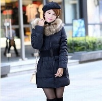 new 2014 fashion top quality thick women parkas winter jacket women winter coat women 5 colors plus size with sashes