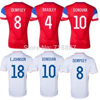 America Team DEMPSEY Soccer Jersey  White US DONOVAN 14/15 Red Jerseys BRADLEY ALTIDORE JOHANNSSON GREEN BEASLEY Player Version