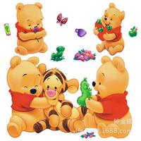 New Arrival 21cm*56cm Popular Cute Children Cartoon Bear Wall Sticker Wall Mural Home Decor Room Kids