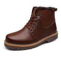 2014 winter new men's fashion Genuine leather Martin boots skid  size 37 ~ 48