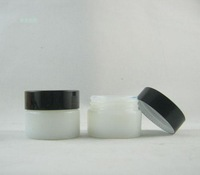 15g white round glass cosmetic  container ,15ml white empty glass bottle / jar  ,1/2oz cosmetic packaging bottles