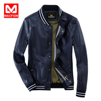 2014 autumn men's clothing leather clothing male slim leather clothing paragraph in the motorcycle leather clothing PU leather