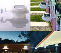 Solar energy lamp, wall lamp sink 3 led circular lamp fence light control outdoor garden rush the rail lamp lights