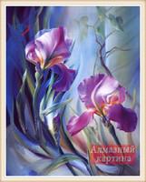 Diy diamond painting set purple lily cross diamond rhinestone painting square drill full rhinestone diamond 30x40cm postage free