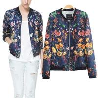 Free shipping women's r fashion print 2014 women's baseball uniform flight jacket outerwear female women's clothing