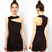 summer dress Crosscourt asymmetrical slim tube top summer dress