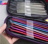 10 Bags 22pcs Aluminum Crochet Hooks Needles Knit Weave Stitches Knitting Craft Case New 25