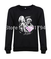 Hot sale!!!2014 Men Sweatshirts MARILYN MONROE GIRLS Fashion Casual Clothing 16 Colors Free Shipping