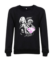 Hot sale!!!2014 Men Sweatshirts MARILYN MONROE GIRLS Fashion Casual Clothing 16 Colors Free Shipping