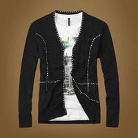 2014 Spring Men's Sweater cardigan male sweater upperwear sweater slim Thin sweaters