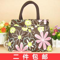 For x2 46 thickening zipper small cotton prints bag women's handbag lunch bag handbag 2