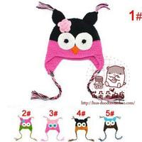Cap Hat Owls Fashion Cute Baby Boy Girl Toddler Knit Crochet Beanie New ( Free Shipping )
