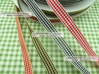 1cm plaid belt ribbon divisa ribbon red
