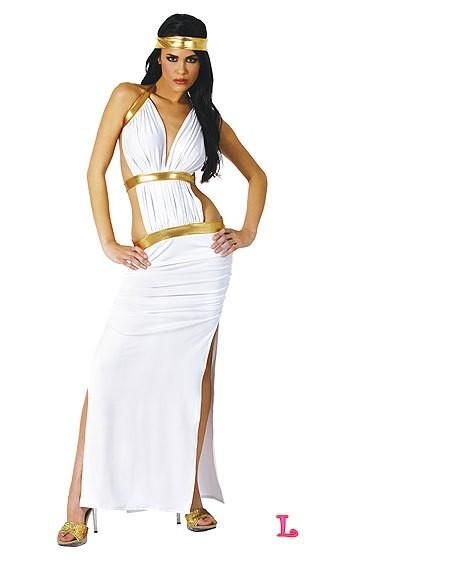 2014 white slit skirt Halloween Cosplay Egyptian girl clothing exports Europe and the United States game uniform(China (Mainland))